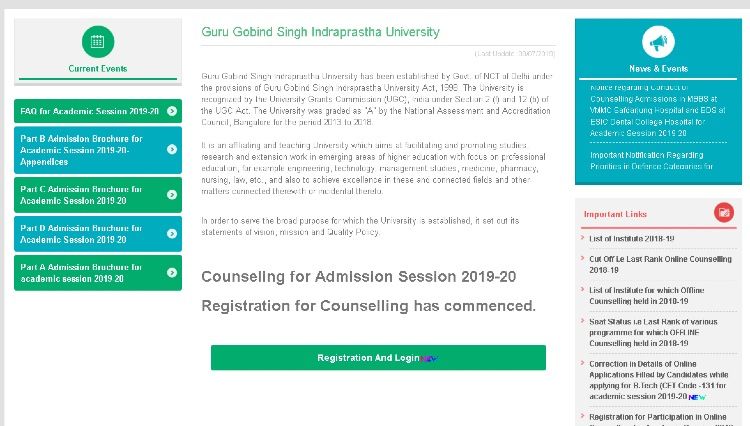 IPUCET 2019 counseling