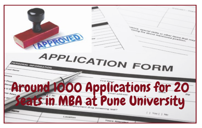 Around 1000 Applications for 20 Seats in MBA at Pune University