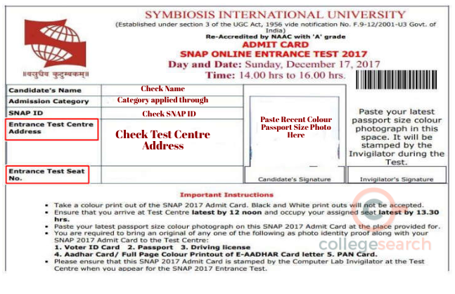 snap-2018-admit-card