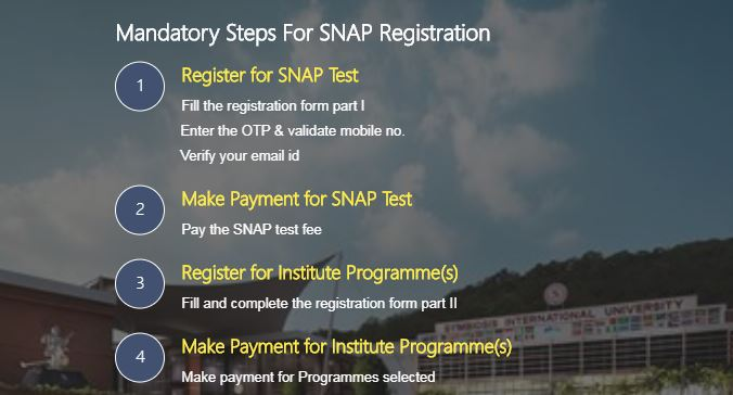 SNAP 2019 Registration